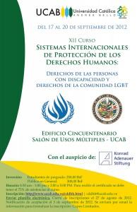Curso de Sistemas Internacionales de Protección de los Derechos Humanos