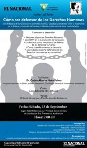 Taller: Cómo ser defensor de los Derechos Humanos (22/09/12)