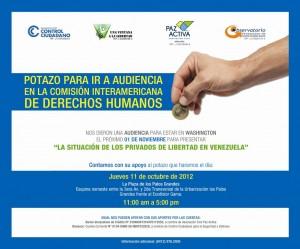 ONG realizan «POTAZO» para asistir a la CIDH