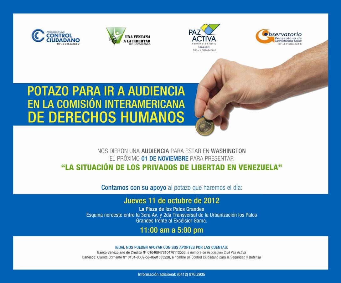 "ONG realizan ""POTAZO"" para asistir a la CIDH"
