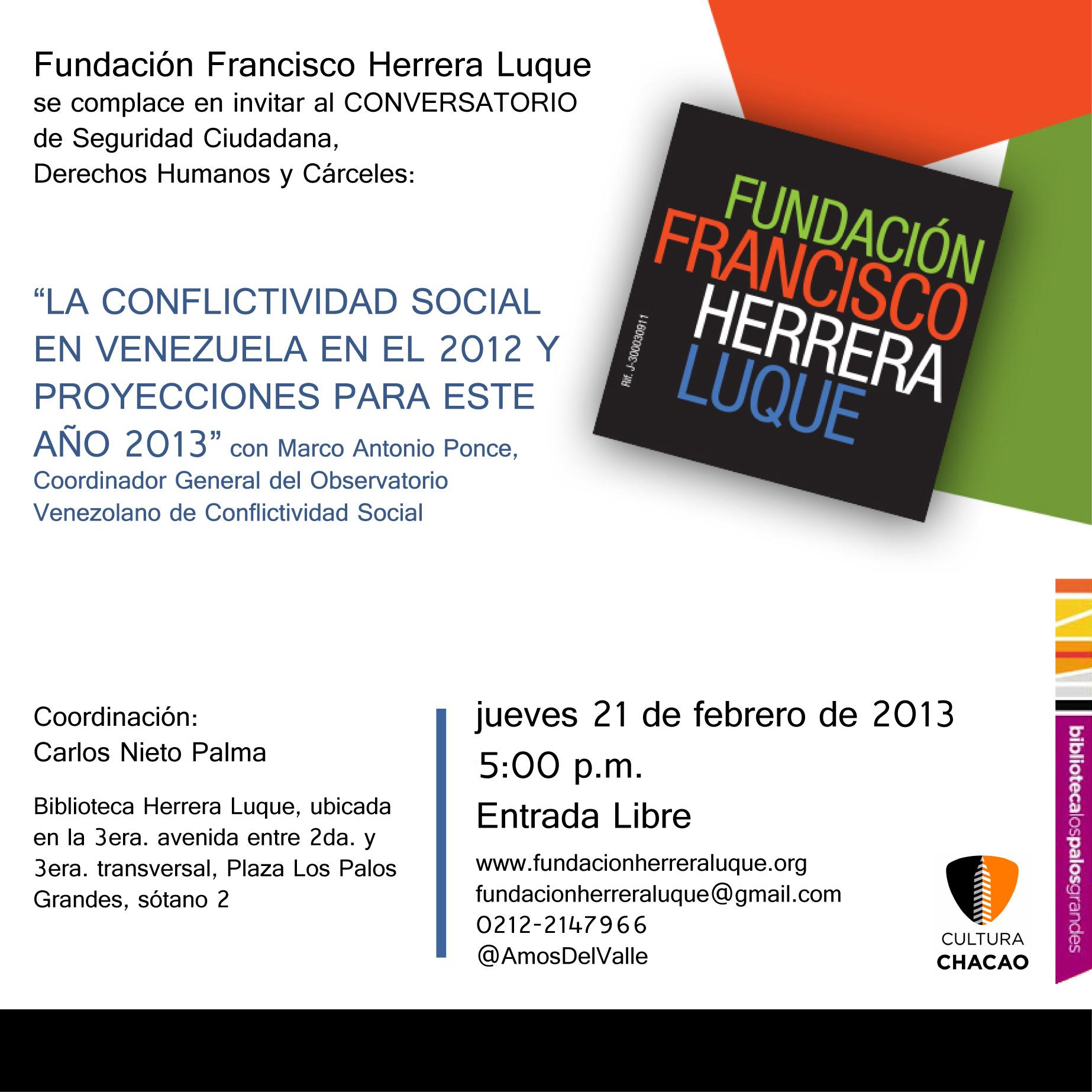 Conversatorio de Derechos Humanos: CONFLICTIVIDAD SOCIAL EN VENEZUELA