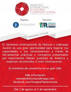 Seminario Internacional de Historia y Liderazgo Juvenil