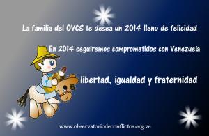 El OVCS te desea felices fiestas y un 2014 lleno de Paz