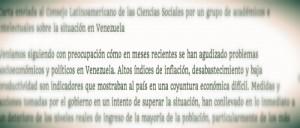 Llamado de Académicos e Intelectuales al Gobierno y a los actores sociales y políticos venezolanos