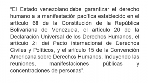 Resolución oficial restringe  el derecho a la manifestación pacífica durante el proceso electoral