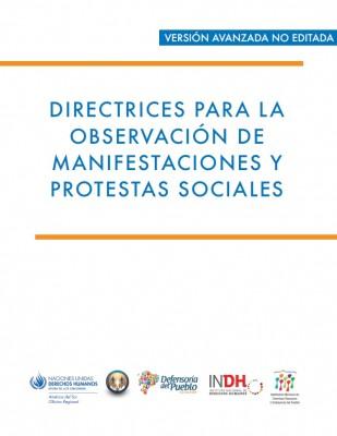 Directrices para observación de manifestaciones y protestas sociales