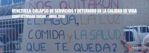 Conflictividad social en Venezuela en abril de 2018