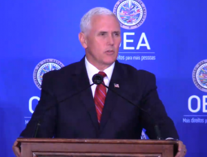 VP de Estados Unidos, Mike Pence: las elecciones del 20 de mayo no serán más que un fraude y una farsa (…) no habrá una verdadera elección en Venezuela