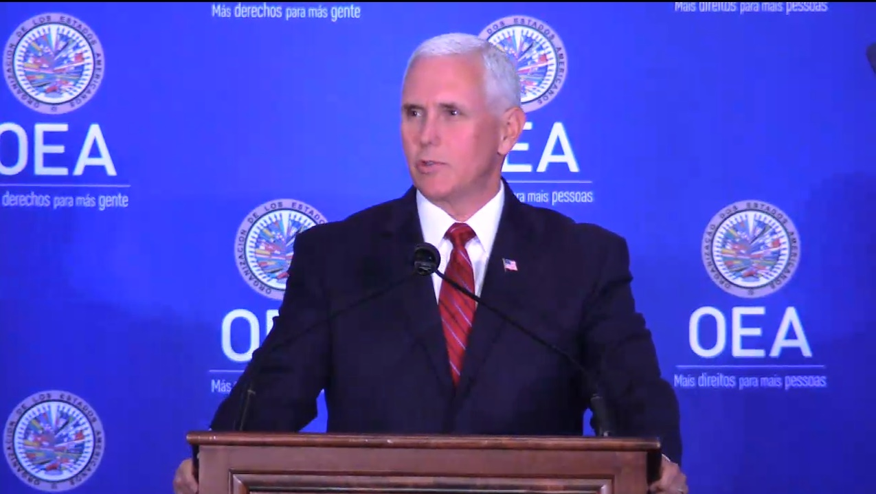 Transmisión en vivo | Vicepresidente de Estados Unidos, Mike Pence, hablará sobre Crisis de Venezuela en la sede de la OEA
