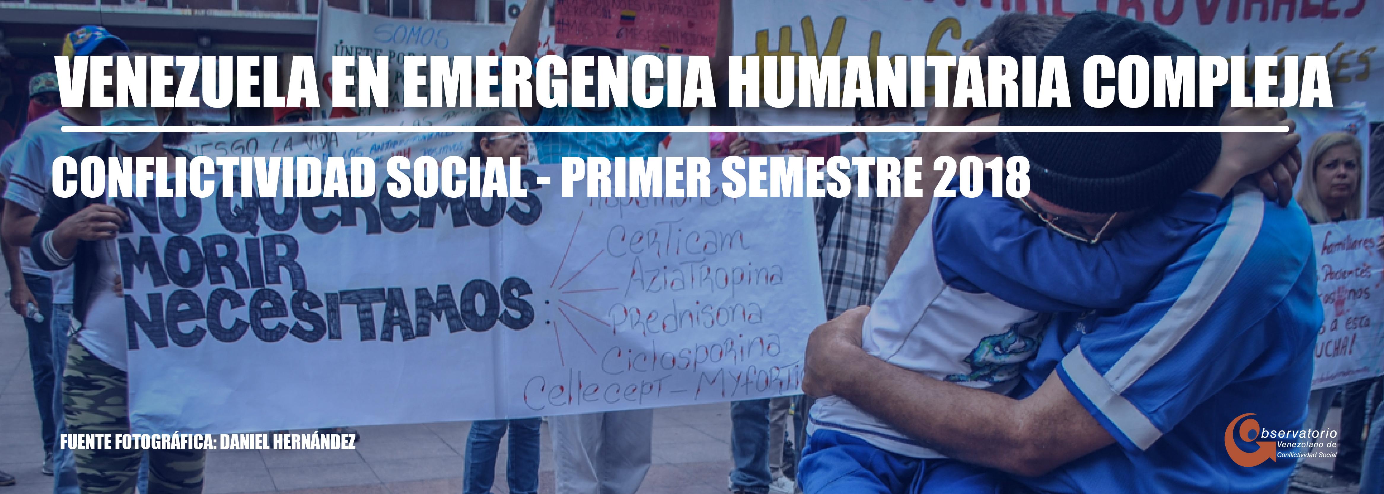 Conflictividad social en Venezuela primer semestre de 2018
