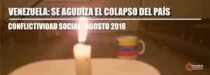 Conflictividad social en Venezuela durante agosto de 2018