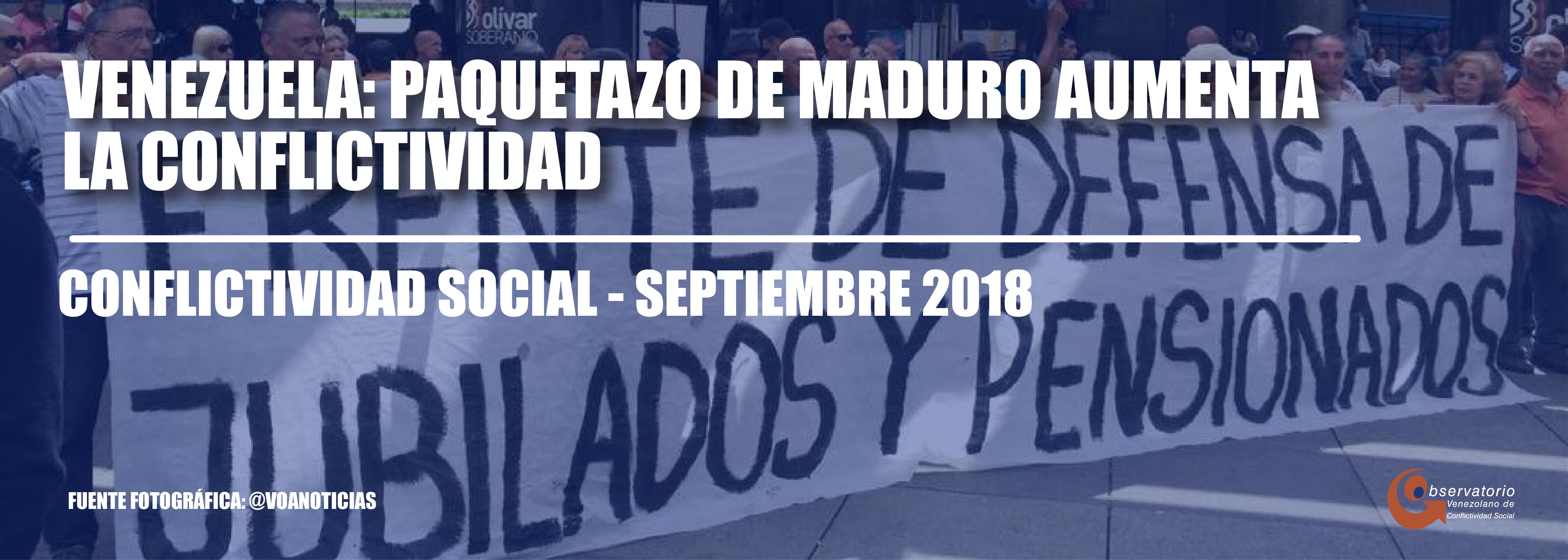 Conflictividad social en Venezuela durante septiembre de 2018