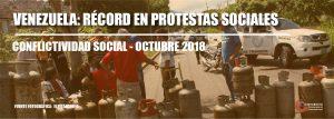 Conflictividad social en Venezuela durante octubre de 2018