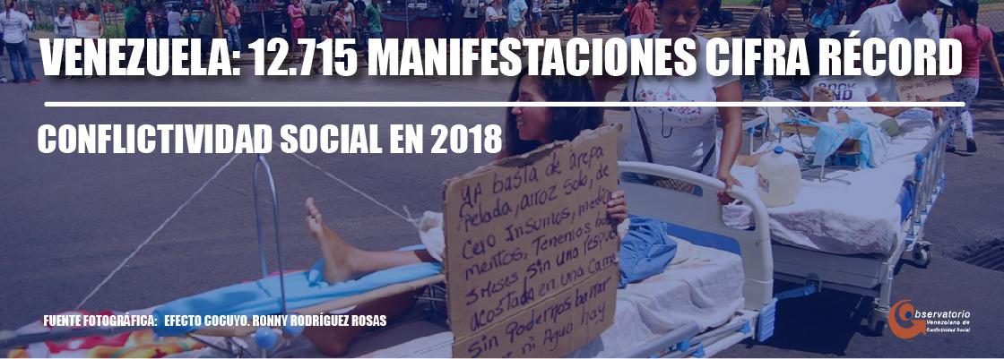 Conflictividad social en Venezuela 2018