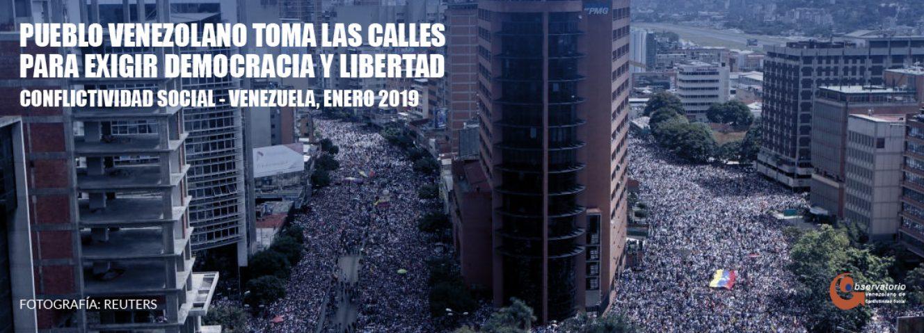 Conflictividad social en Venezuela enero 2019