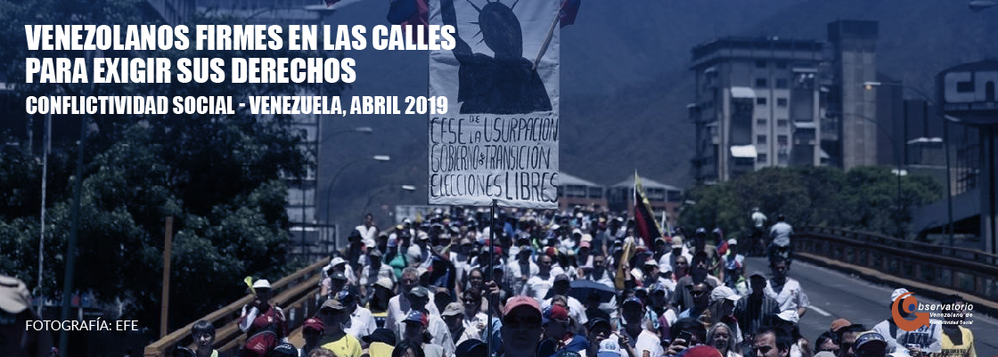 Situación de la conflictividad en Venezuela en abril de 2019