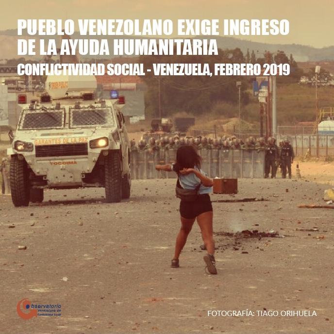 Conflictividad social en Venezuela en febrero 2019