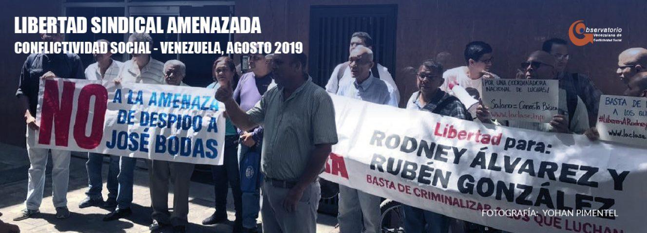 Conflictividad social en Venezuela en agosto de 2019