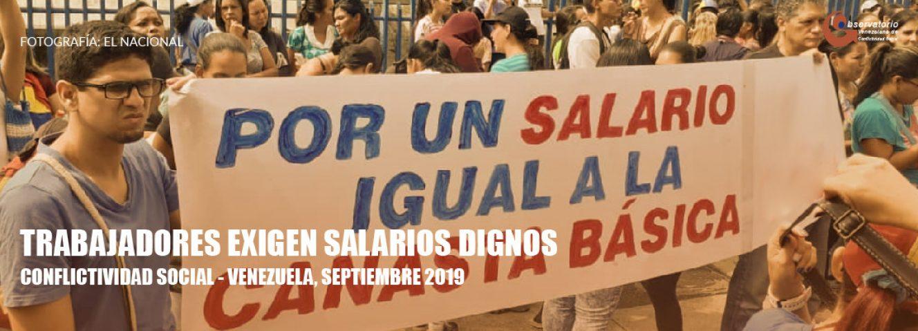 Conflictividad social en Venezuela en septiembre de 2019