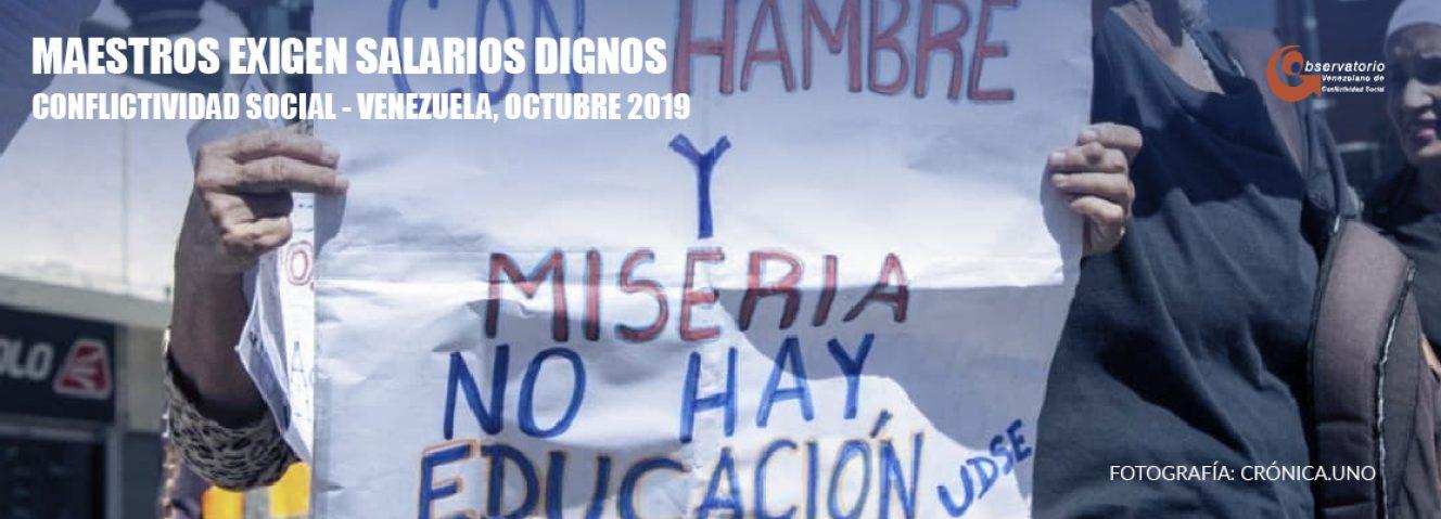 Conflictividad social en Venezuela en octubre de 2019