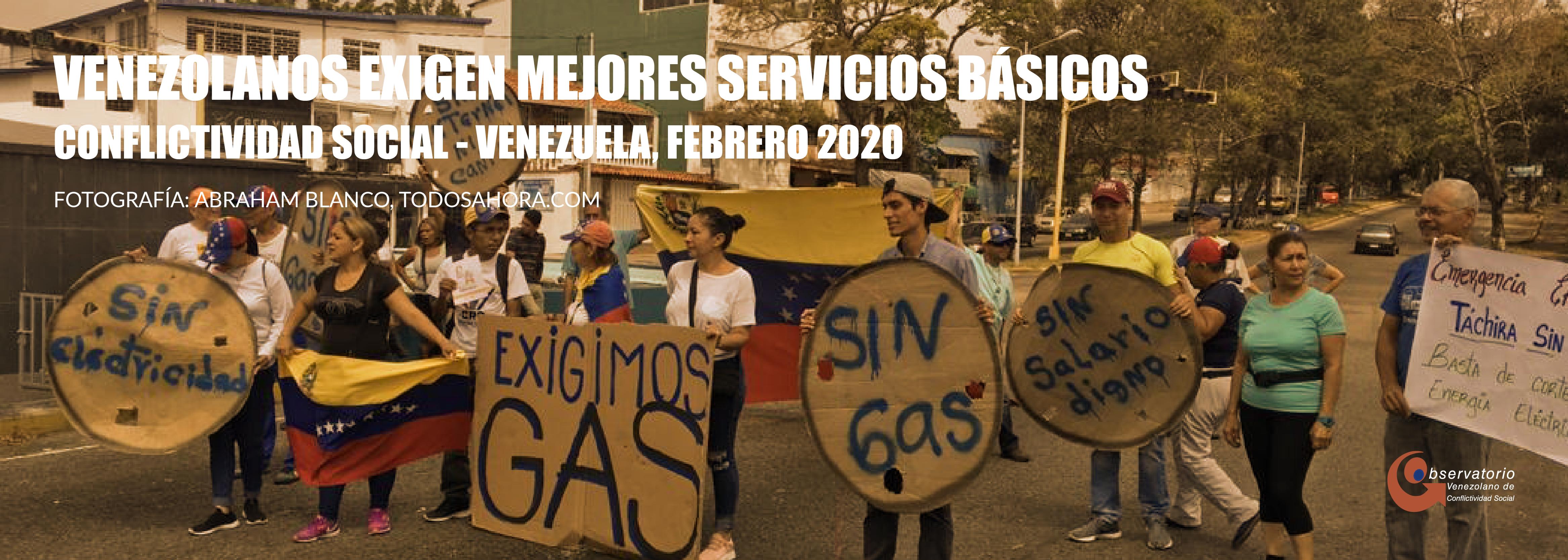 Conflictividad social en Venezuela en febrero de 2020