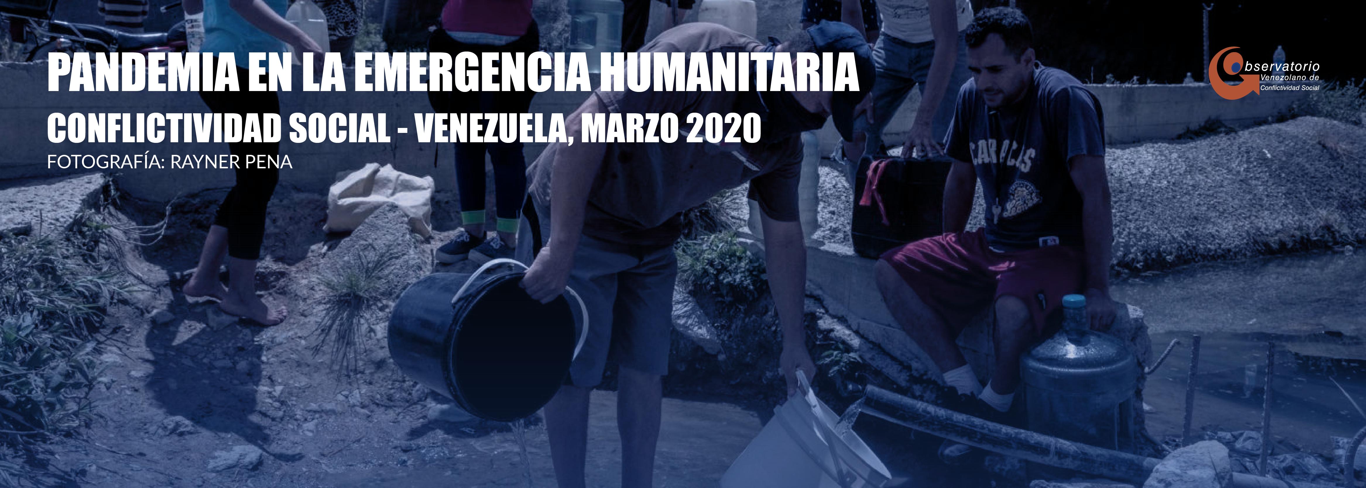 Conflictividad social en Venezuela en marzo 2020
