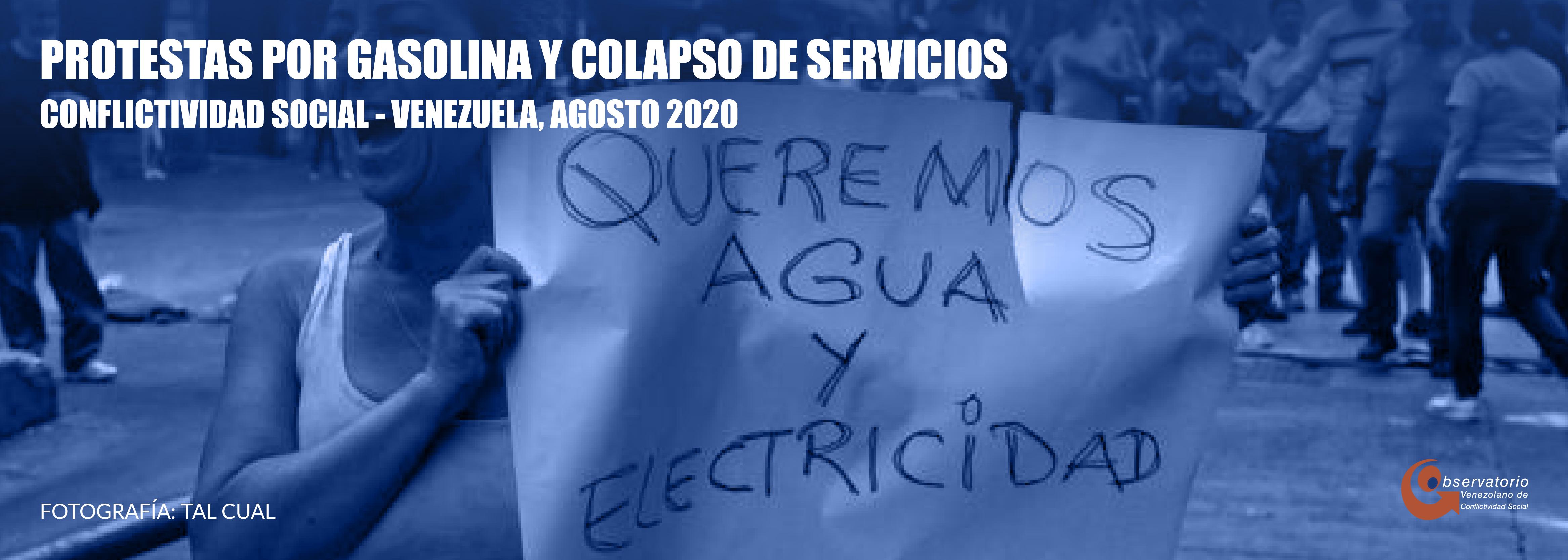 Conflictividad social en Venezuela en agosto de 2020