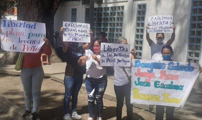 Familiares de detenidos en protestas en Yaracuy 12.010.20