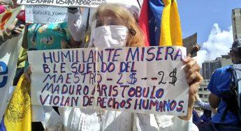 Docentes protestaron en todos los estados de Venezuela
