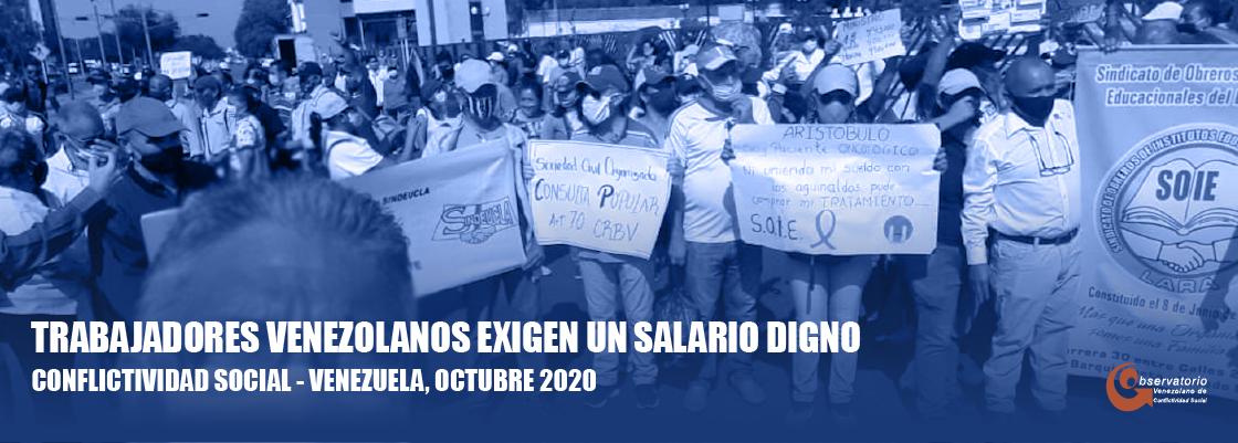 Situación de la conflictividad social en Venezuela en octubre de 2020