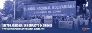 Situación de la conflictividad social en agosto 2021