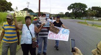Protesta de vecinos en Marhuanta, Bolívar.  Exigen gas, agua, transporte y gasolina. Foto: A. Velásquez 21.09.20.